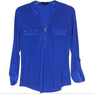 MINE ZIP UP BLOUSE